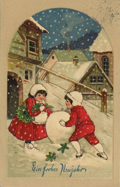 Прибалтийские новогодние открытки 91